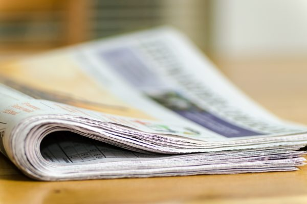 Picture showing a folded newspaper