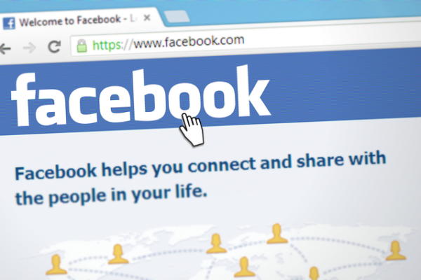 Picture showing the Facebook log-in page